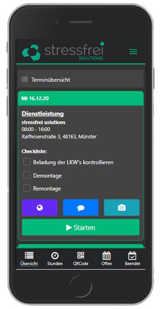 Zeiterfassung App Gebäudereinigung