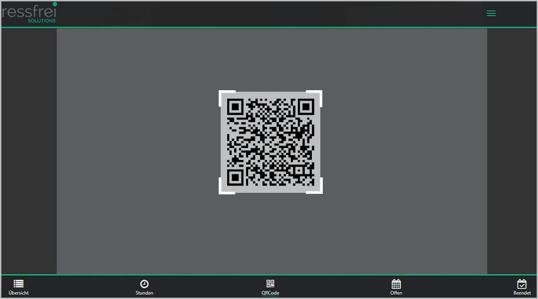 Zeiterfassung App für Mitarbeiter QR-Code