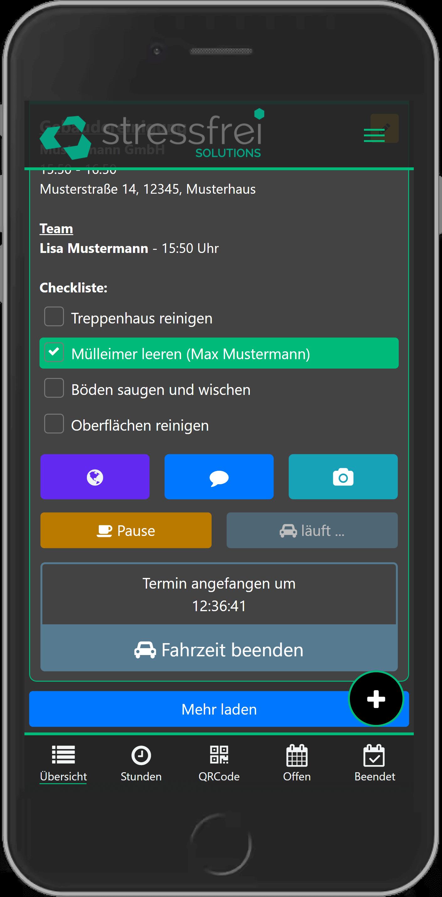Zeiterfassung online Handy